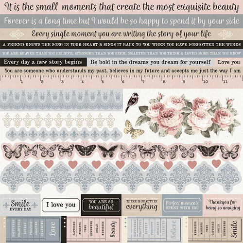 Kaisercraft - Romantique Collection - 12 x 12 Sticker Sheet
