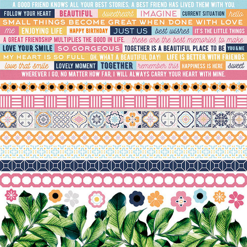 Kaisercraft - Havana Nights Collection - 12 x 12 Sticker Sheet