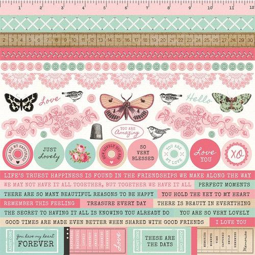 Kaisercraft - Miss Betty Collection - 12 x 12 Sticker Sheet