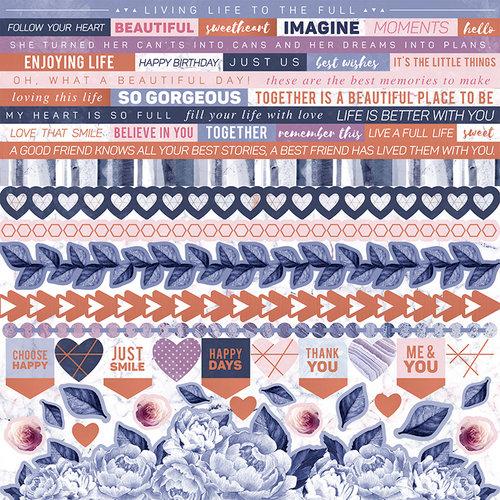 Kaisercraft - Misty Mountains Collection - 12 x 12 Sticker Sheet