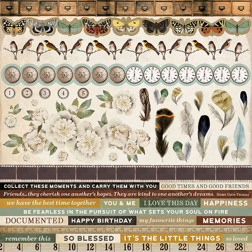 Kaisercraft - Anthology Collection - 12 x 12 Sticker Sheet