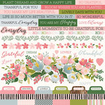 Kaisercraft - Full Bloom Collection - 12 x 12 Sticker Sheet
