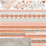 Kaisercraft - Peachy Collection - 12 x 12 Sticker Sheet