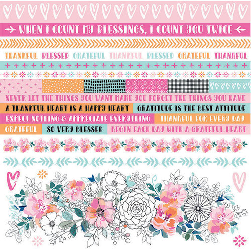Kaisercraft - Blessed Collection - 12 x 12 Sticker Sheet