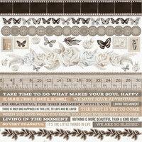 Kaisercraft - Whisper Collection - 12 x 12 Sticker Sheet
