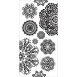 Kaisercraft - Clear Stickers - Doilies - White