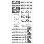 Kaisercraft - Clear Stickers - Inspirational