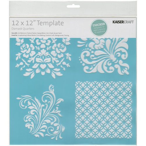 Kaisercraft - 12 x 12 Template - Damask Quarters