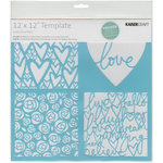 Kaisercraft - 12 x 12 Template - Love Quarters