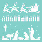 Kaisercraft - 12 x 12 Stencils Template - Christmas Strip