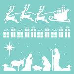 Kaisercraft - 12 x 12 Stencils Template - Christmas Strip