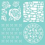 Kaisercraft - 12 x 12 Stencils Template - Floral Quarters