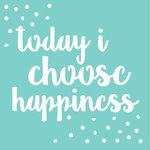 Kaisercraft - 12 x 12 Stencils Template - Happiness Quote