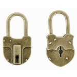 Kaisercraft - Kaisertreasures - Metal Padlocks - Brass