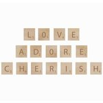 Kaisercraft - Flourishes - Square Wooden Letters - Adore