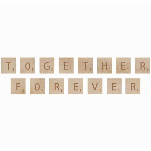 Kaisercraft - Flourishes - Square Wooden Letters - Forever