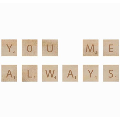 Kaisercraft - Flourishes - Square Wooden Letters - You and Me
