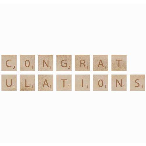 Kaisercraft - Flourishes - Square Wooden Letters - Congratulations