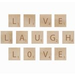 Kaisercraft - Flourishes - Square Wooden Letters - Laugh