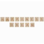 Kaisercraft - Flourishes - Square Wooden Letters - Happiness