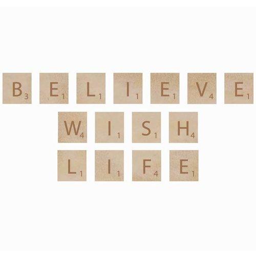 Kaisercraft - Flourishes - Square Wooden Letters - Believe