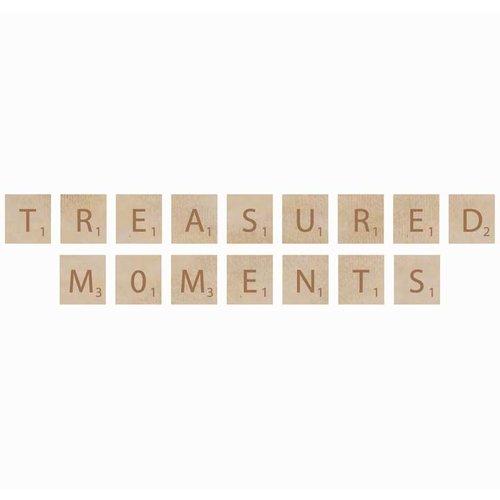 Kaisercraft - Flourishes - Square Wooden Letters - Treasured