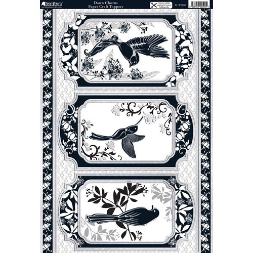 Kanban Crafts - Birds of Paradise Collection - Die Cut Punchouts with Foil Accents - Dawn Chorus