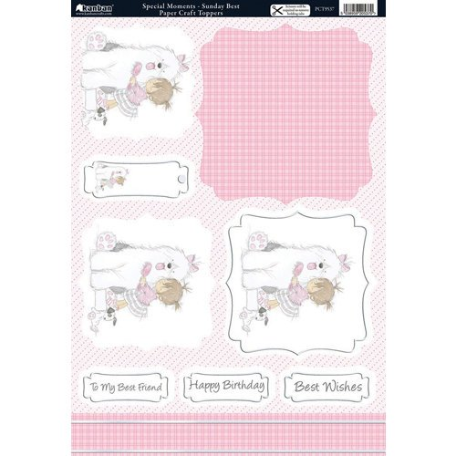 Kanban Crafts - All About Her Collection - Die Cut Punchouts and 8 x 12 Patterned Cardstock - Sunday Best