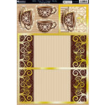Kanban Crafts - Cafe Collection - Die Cut Concept Card Kit with Foil Accents - Bella Time for a Cuppa - Mocha