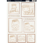 Kanban Crafts - Patchwork Pals Collection - Die Cut Punchouts with Embossed and Foil Accents - Grandpa