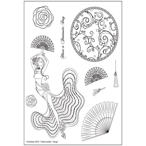 Kanban Crafts - Yvette Jordan Collection - Clear Acrylic Stamps - Tango