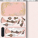 Kanban Crafts - Yvette Jordan Collection - Die Cut Punchouts and 8 x 12 Patterned Cardstock - My Fair Lady - Pink