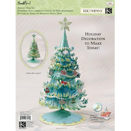 k and company swell noel collection advent tree kit clearance - Christmas Tree Decorating Ensemble Kits