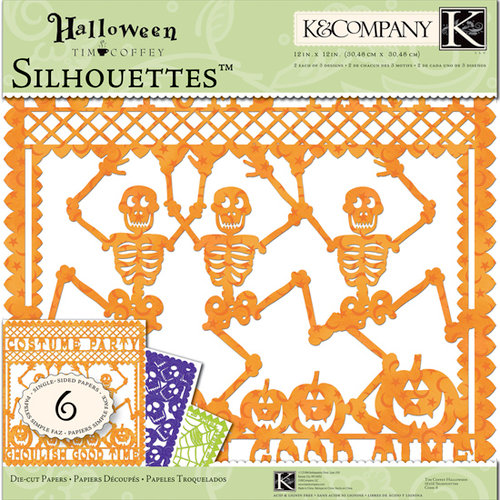 K and Company - Halloween Collection by Tim Coffey - 12 x 12 Specialty Silhouettes Die Cut Paper Pack