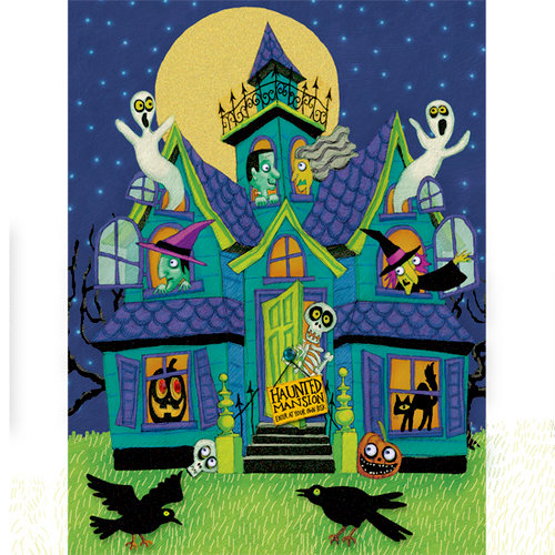 K and Company - Halloween Collection by Tim Coffey - Grand Adhesions Stickers - Haunted House, CLEARANCE
