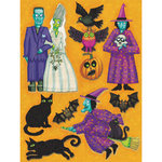 K and Company - Halloween Collection by Tim Coffey - Grand Adhesions Stickers - Ghoul