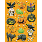 K and Company - Halloween Collection by Tim Coffey - Pillow Stickers - Icon