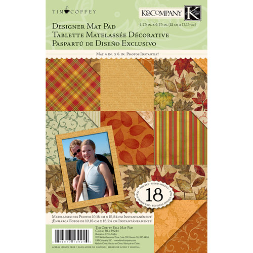 K and Company - Fall Collection by Tim Coffey - Designer Mat Pad - 4.75 x 6.75 - Mat 4 x 6 Photos Instantly