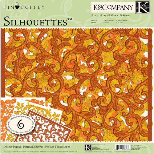 K and Company - Fall Collection by Tim Coffey - 12 x 12 Specialty Silhouettes Die Cut Paper Pack