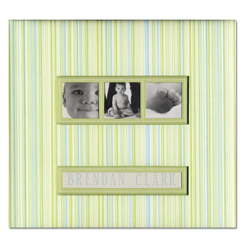 K and Company - Baby Collection - Frame a Name - 12 x 12 Scrapbook Album - Baby Boy