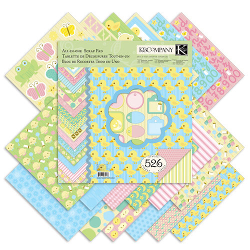 K and Company - Baby Collection - 12 x 12 All-In-One Scrap Pad