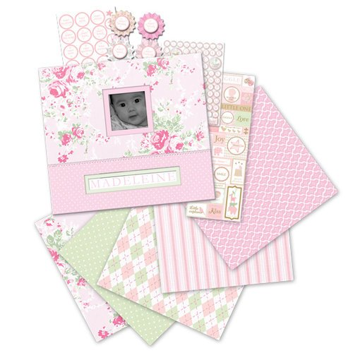 K and Company - Little House Collection - 12 x 12 Boxed Scrapbook Kit - Baby Girl