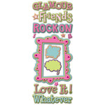 K and Company - 3 Dimensional Adhesive Chipboard - Glamour Girl