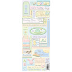 K and Company - Baby Collection - Embossed Stickers - Words and Icons, BRAND NEW