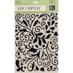 K and Company - Elegance Collection - Puffy Glitter Stickers - Black, CLEARANCE