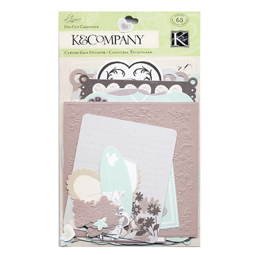 K and Company - Elegance Collection - Die Cut Frames and Note Cards  , CLEARANCE