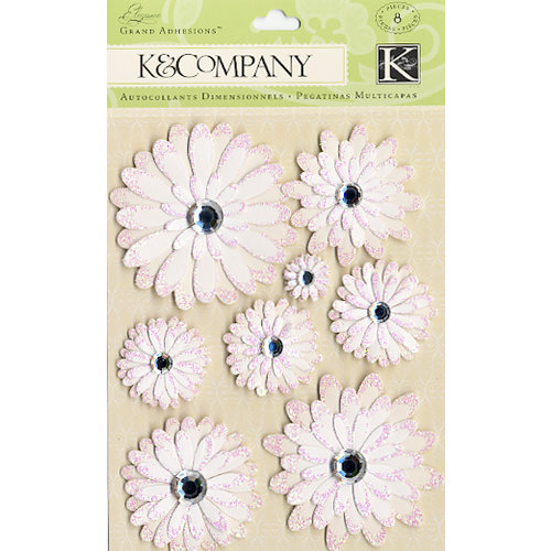 K and Company - Elegance Collection - Grand Adhesions Stickers - Daisy, CLEARANCE