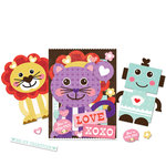 K and Company - Ka-Zoo Valentine Collection - Die Cut Cardstock Pieces, CLEARANCE
