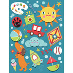 K and Company - Spaghetti Collection - Grand Adhesions Stickers with Varnish Accents - Icons, CLEARANCE