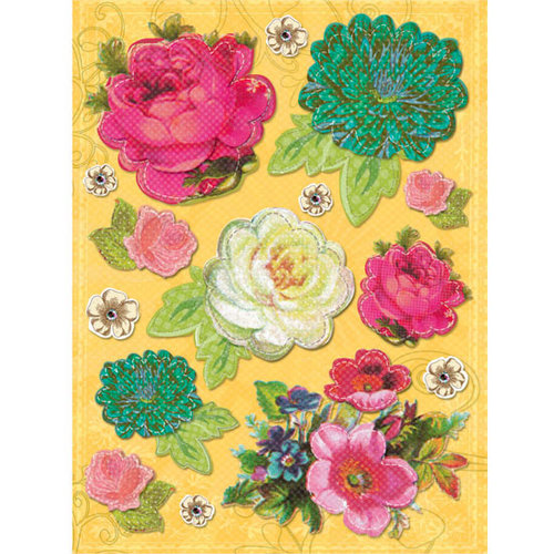 K and Company - Serendipity Collection - Grand Adhesions Stickers - Floral, CLEARANCE